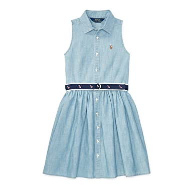 9cde560effccf Image Unavailable. Image not available for. Color  Polo Ralph Lauren Girl s Sleeveless  Cotton ...