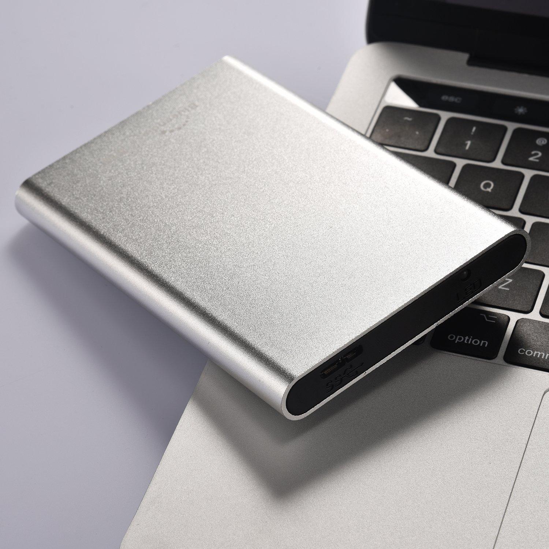 Blueendless - Disco duro externo portátil de (USB 3.0,para ordenador y portátil) plateado plata 500 gb: Amazon.es: Informática
