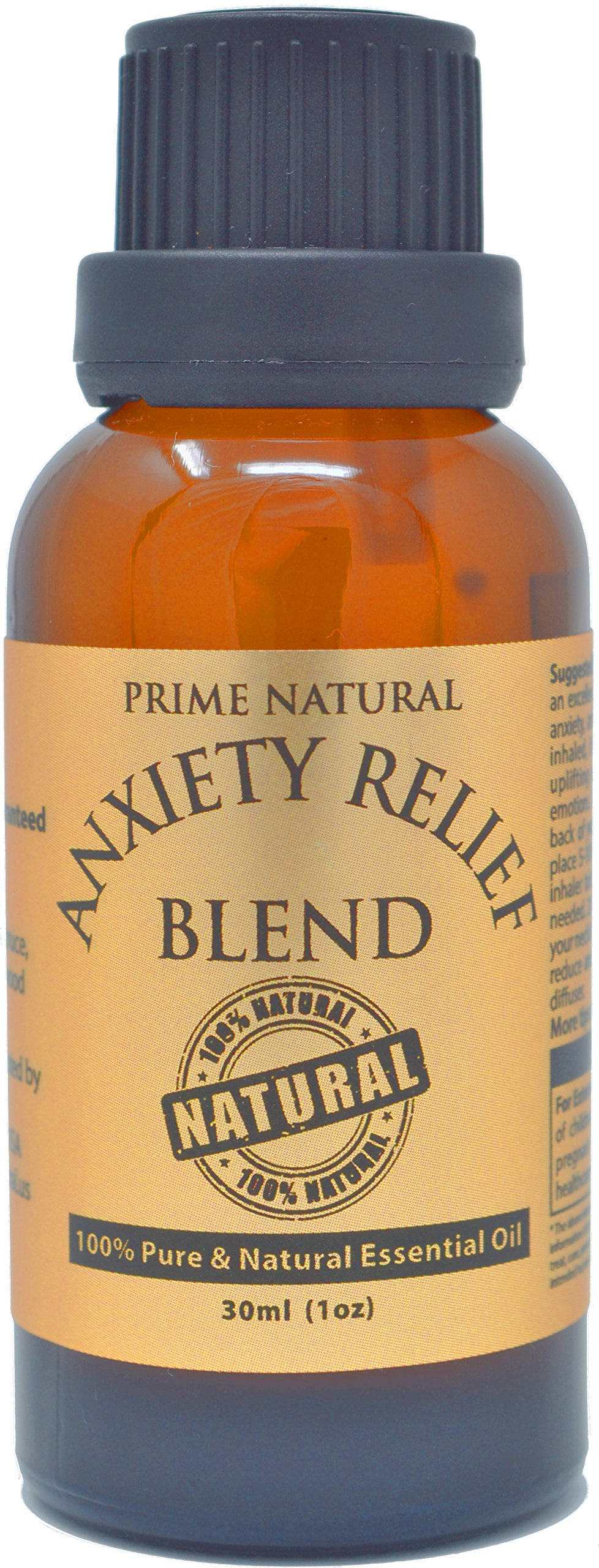 Anxiety Relief Essential Oil Blend 30ml / 1oz - 100% Natural Pure Undiluted Therapeutic Grade for Aromatherapy, Scents & Diffuser Depression, Stress Relief, Relaxation, Boost Mood, Uplifting, Calming