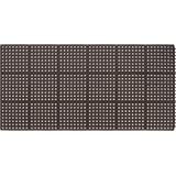 "AmazonBasics 5/8"" Wet Area Gen Purpose Rubber Drainage Mat with Holes, Modular System 3X3 Black"