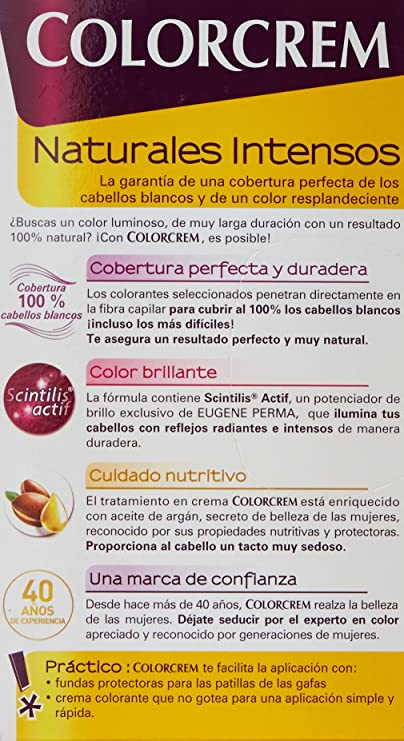 Colorcrem Color & Brillo Tinte Capilar Naturales Intensos Color Rubio Clarísimo: Amazon.es: Belleza