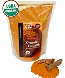 Ultra Pure Organic Turmeric Root Powder Curcumin USDA Certified Healthy Antioxidant Superfood Supplement in 1 Pound Value Size Spice Pack Fresh Harvested From India By Flavor Of The Earth