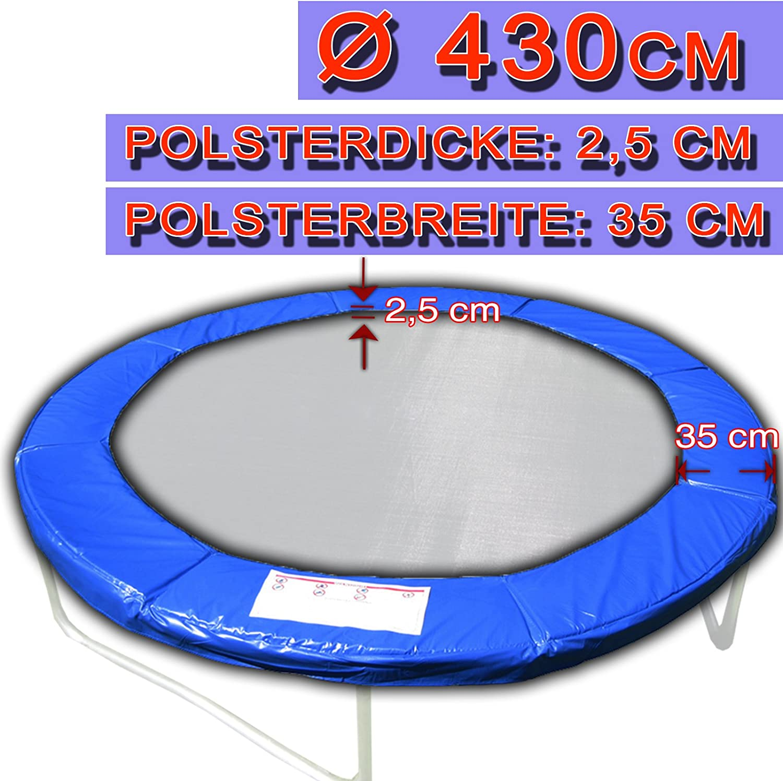 Gepolsterte Randabdeckung für Trampolin 244cm-427cm Randschutz Abdeckung PVC
