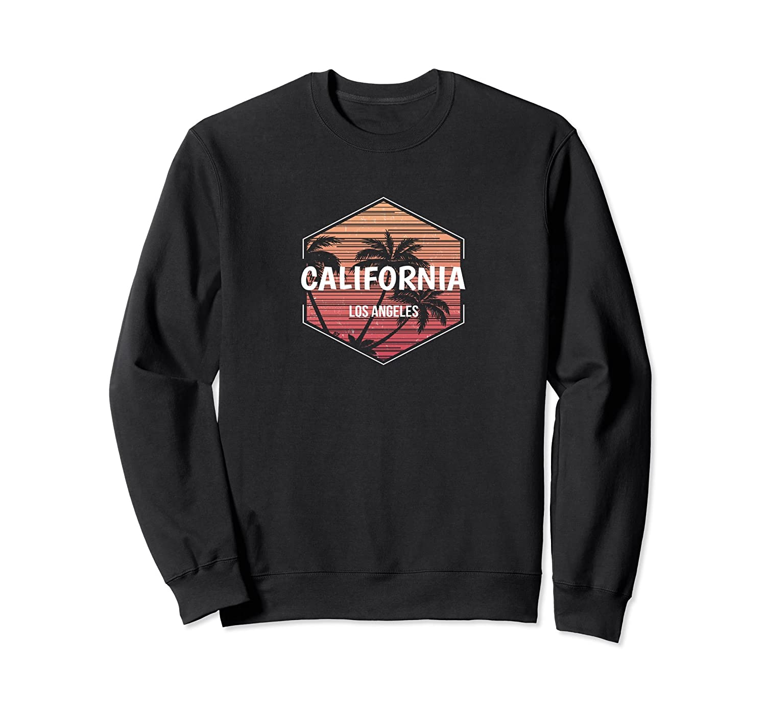 Los Angeles Vacation Sweatshirt Family Retro Apparel-fa
