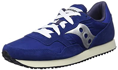 802c39b899fc Saucony Mens DXN Vintage S70369-5 Navy Silver Suede Trainers 8 US