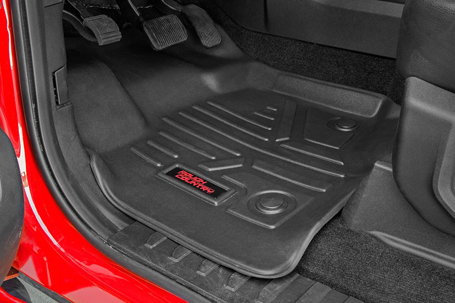 Under Seat Storage M-61501 1st//2nd Row Rough Country Floor Liners 2020 Jeep Gladiator JT JT Rubber Mats Front//Rear fits