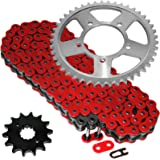 Caltric Red O-Ring Drive Chain /& Sprockets Kit Fits HONDA CBR600F CBR-600F Hurricane 600F 1987-1990