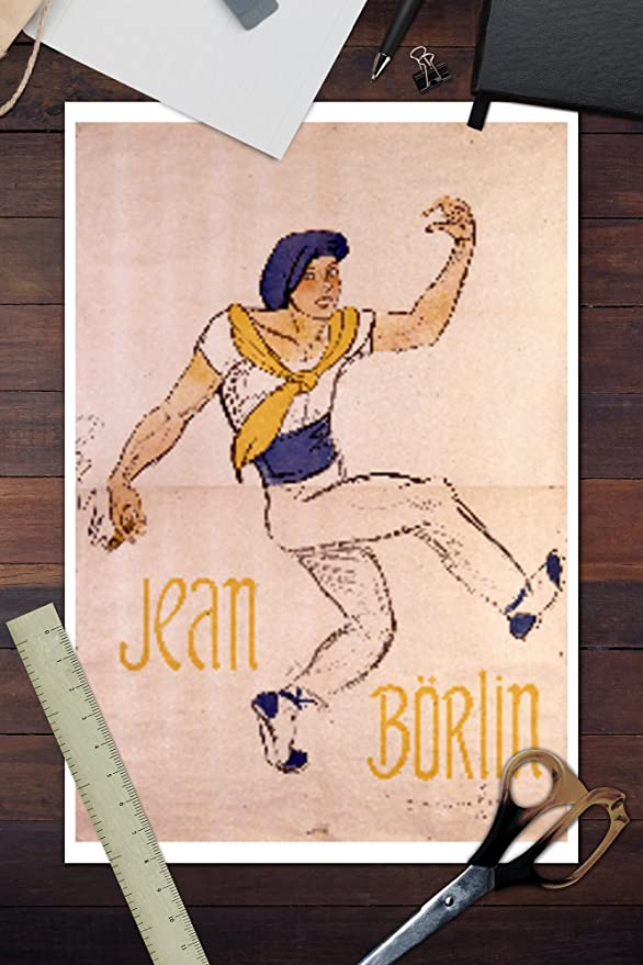 Amazon.com: Jean Borlin - Jenny Hasselquist Vintage Poster (artist: Steinlen) France c. 1920 (12x18 Fine Art Print, Home Wall Decor Artwork Poster): Posters ...