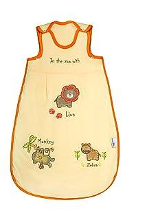 Baby Summer Sleep Sack Wearable Blanket 1 Tog - Zoo - 0-6 months/