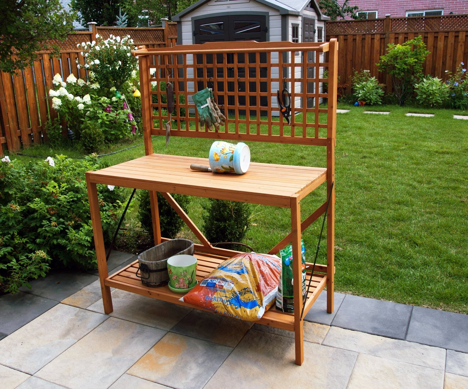 pallet potting garden cheap foldable bench plans dcor