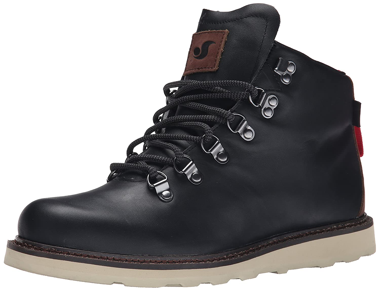 b4dc3fd8a0f DVS Men's Yodeler Snow Boot, Black/Brown Leather, 11.5 M US: Buy ...