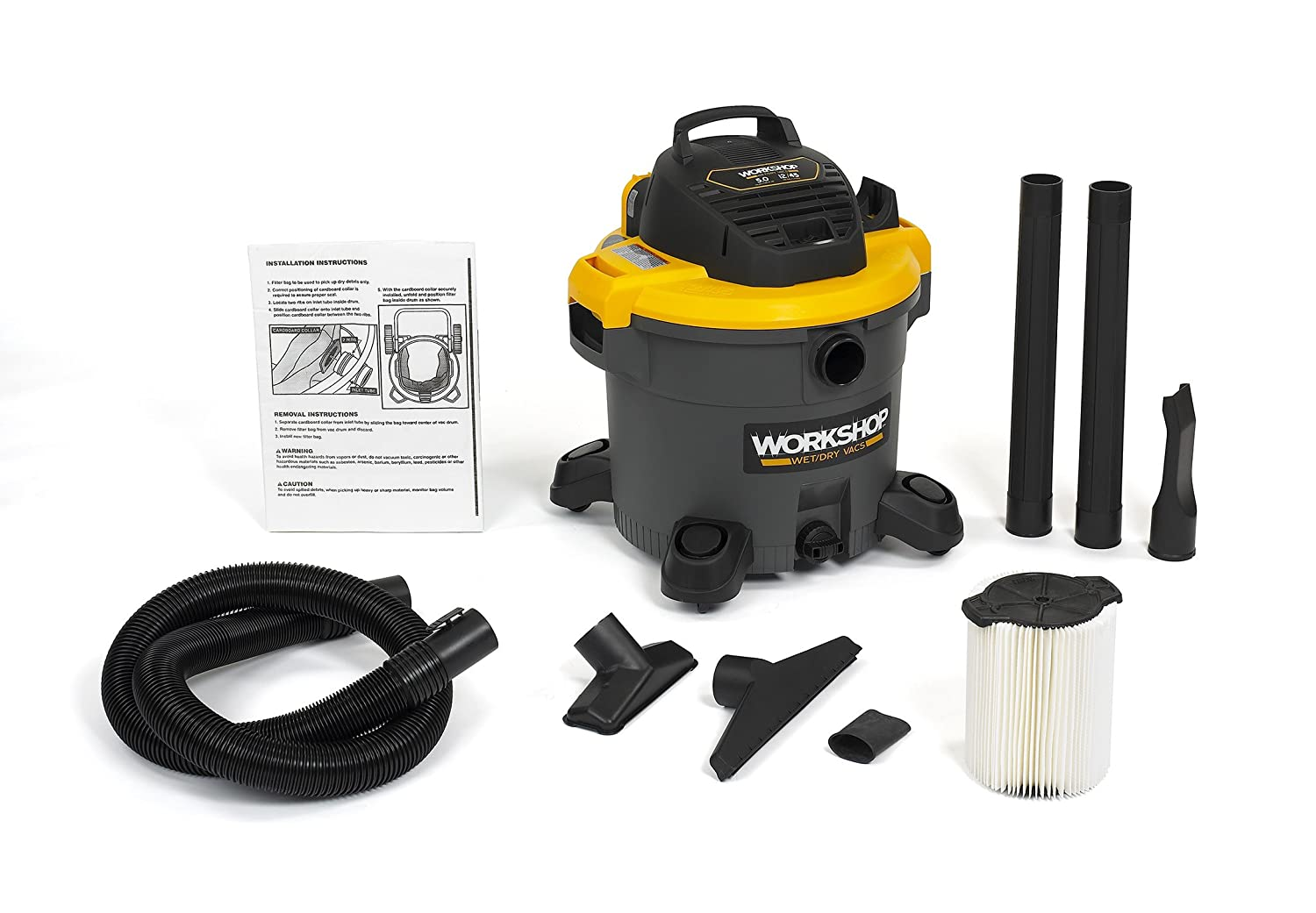 WORKSHOP WS1200VA Heavy Duty General Purpose Wet Dry Vacuum Cleaner