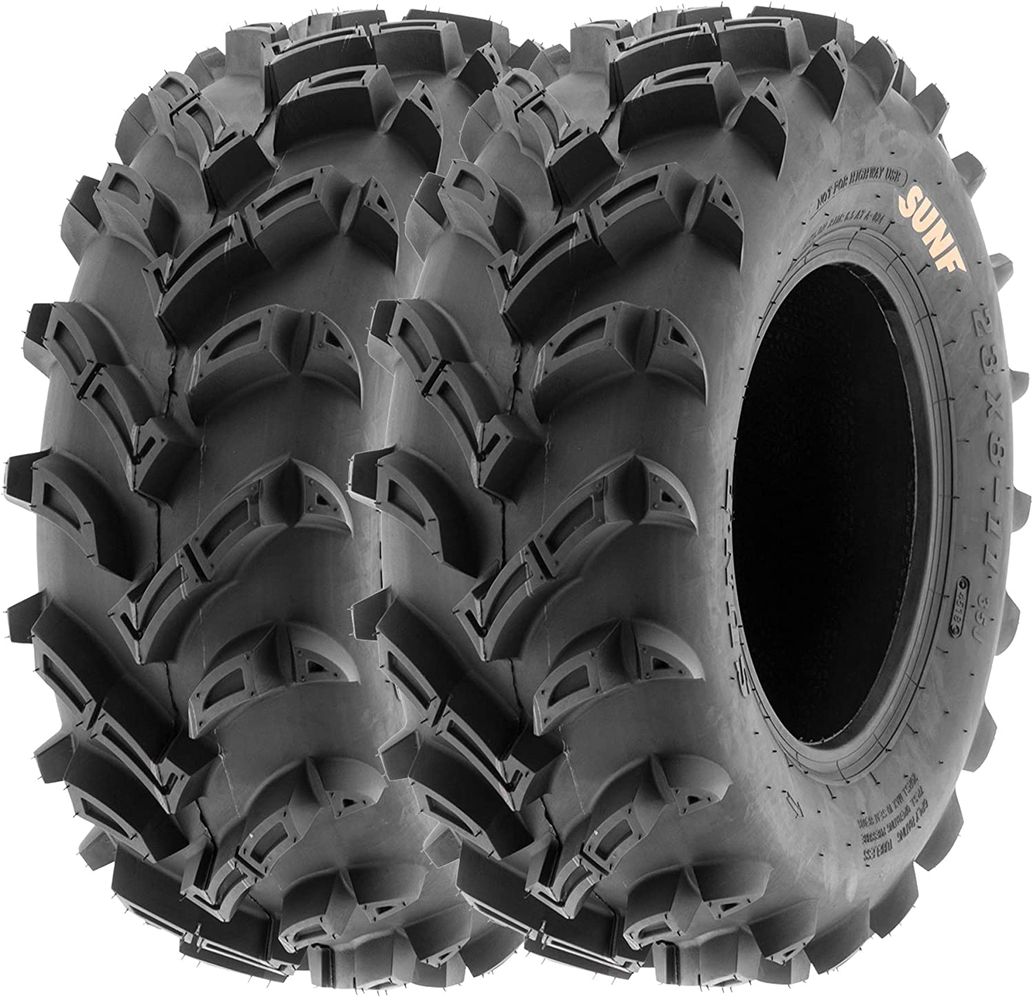 23x8-11 /& 24x9-11 Replacement ATV UTV SxS 6 Ply Tires A033 by SunF Set of 4