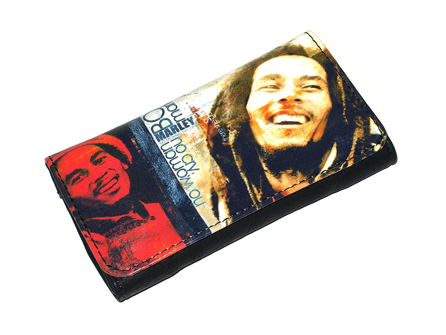 High Quality Faux Leather Tobacco Pouch - Smiling Bob Marley
