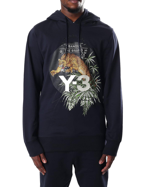 a663cdaefe2f adidas Y-3 Men s Leopard Logo Hoodie Black XL  Amazon.co.uk  Clothing