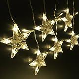 LightsEtc 280 LED String Light Curtain 9.8ft x 6.5ft Fairy Starry Warm White Window Lights for Decor