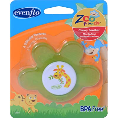 Evenflo Zoo Friends Chewy Soother Paw : Baby Teether Toys : Baby