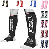 Cloth Shin Instep Guard Boxing MMA Karate Muay Thai Protection Equipment