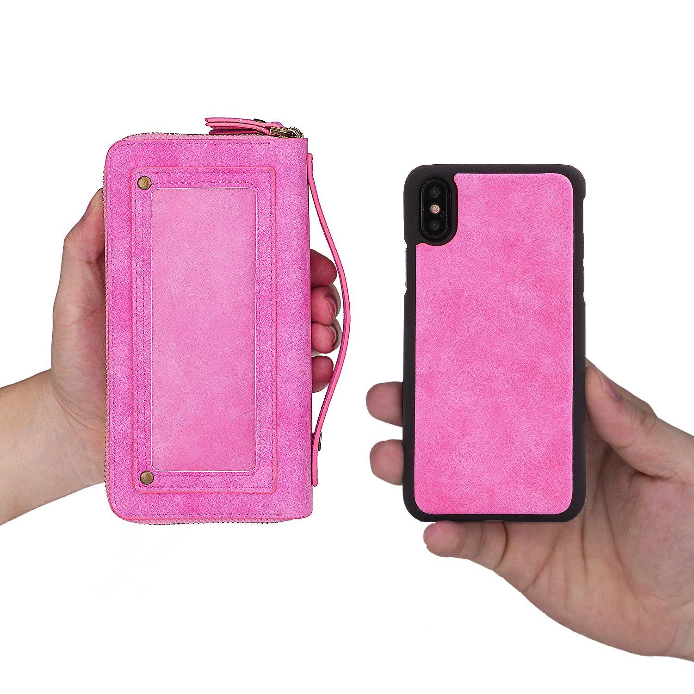 379e70b2a8 Amazon | iPhone Xケース iPhoneX ケース クラッチバッグ袋 レディース メンズ【Boomshine】100% 手作り  ビンテージレザー 財布型 レザー アイホンX ケース 分離式多 ...