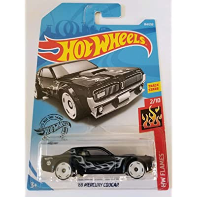 Hot Wheels 2020 Hw Flames \'68 Mercury Cougar, 164/250 Black: Toys & Games [5Bkhe1104138]