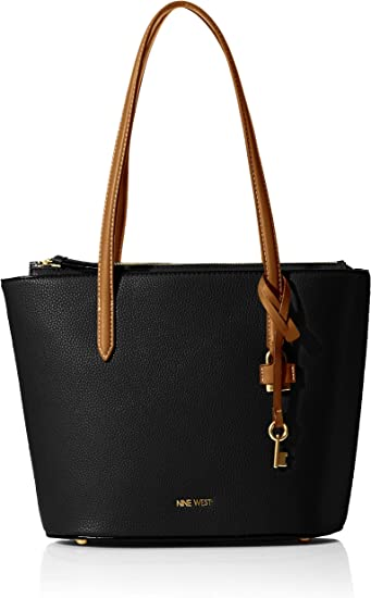 Nine West Women/'s Jorani Tote Leather Top-Handle Bag