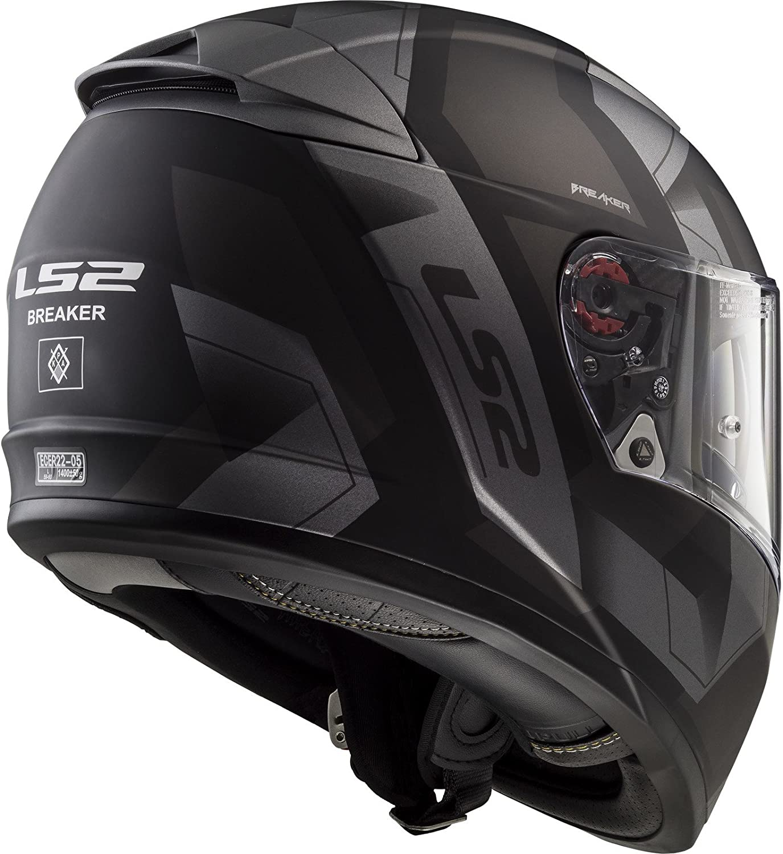 64//65 LS2 FF390 Breaker Physics Helm Schwarz//Rot XXXL