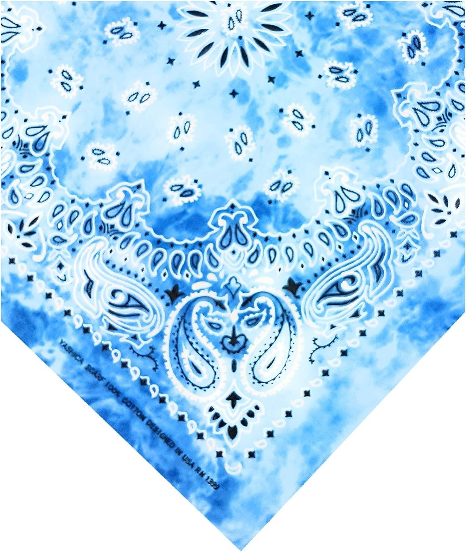 Feelinko multifunktionales Original Paisley stone-washed Bandana Nicki Biker Tuch 100/% Baumwolle Halstuch Kopftuch Zandana Batik Multifunktionstuch Unisex einfarbig