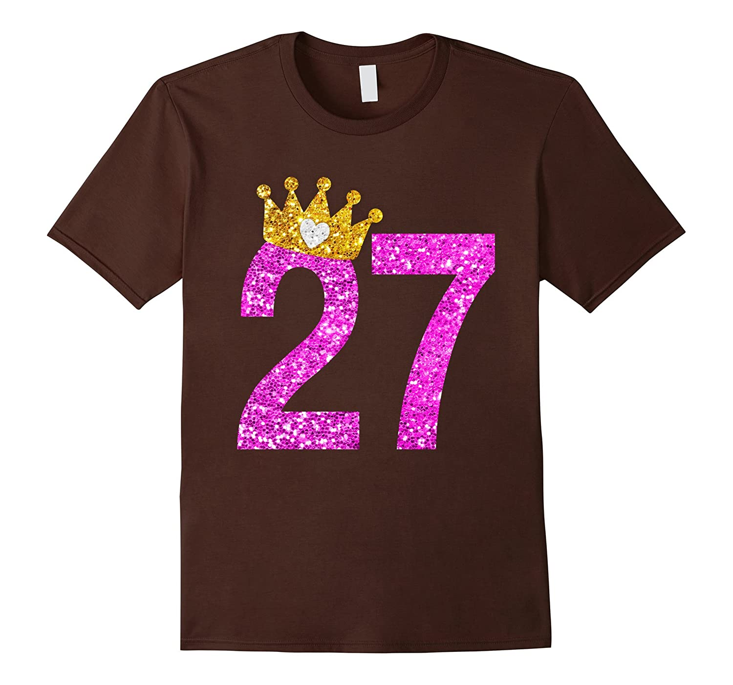 27th Birthday Girl Shirt Princess Crown Pink-PL