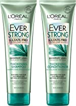 L'Oreal Paris Hair Care EverStrong Thickening Sulfate Free Shampoo & Conditioner