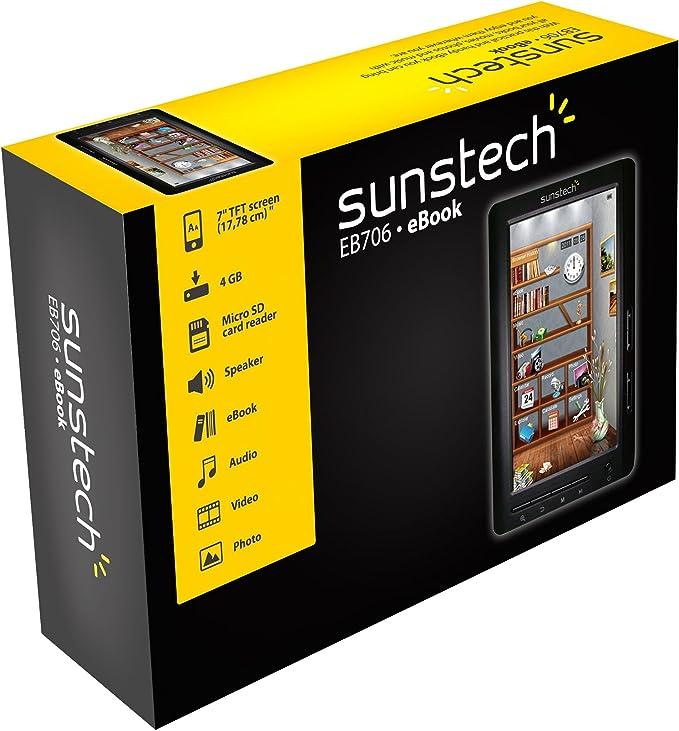Sunstech EB7064GBBK - Lector de eBooks (pantalla de 7