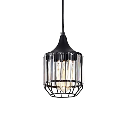 LaLuLa Black Vintage Pendant Lighting Mini Crystal Chandeliers ...
