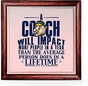 Coach Gifts | Coach Appreciation Gift | Great Presents Ideas for The Best Coach Ever with Amazing Design | 7x7 Tile Artwork Ideal for Room or Office Decoration