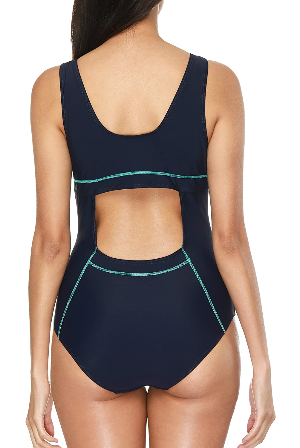 07d63891ad CharmLeaks Womens Sports One Piece Swimsuit Athletic Swimwear Swimming  Costumes