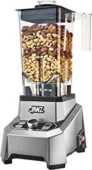 JAWZ High Performance - Variable 10-Speed - Professional Grade Countertop Blender/Food Processor, 64 Oz, Silver