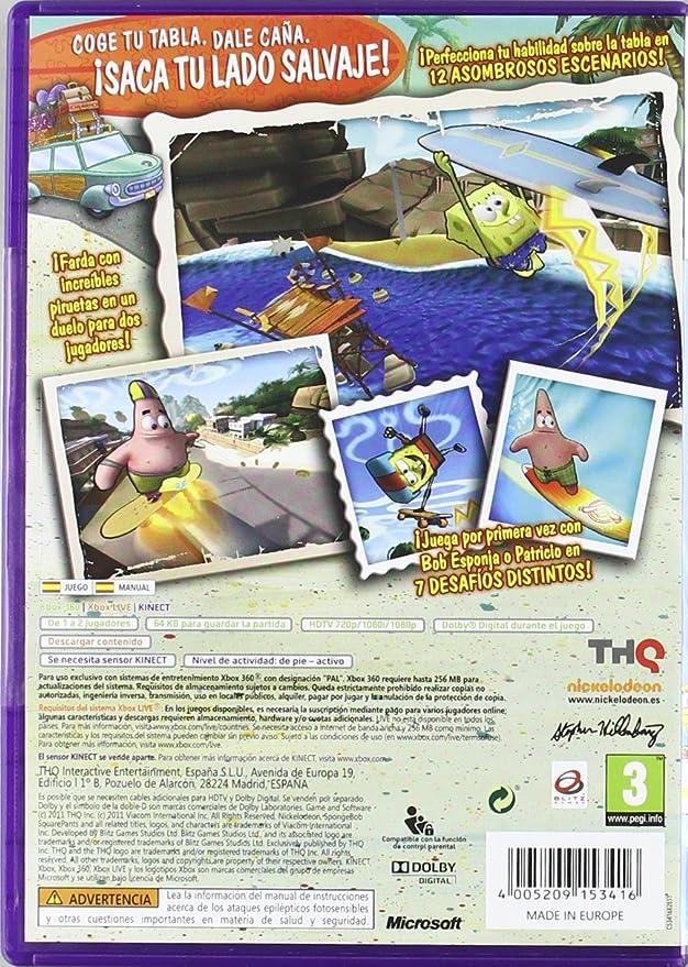Bob Esponja Surf & Skate: ¡Vacaciones!: microsoft xbox 360: Amazon.es: Videojuegos