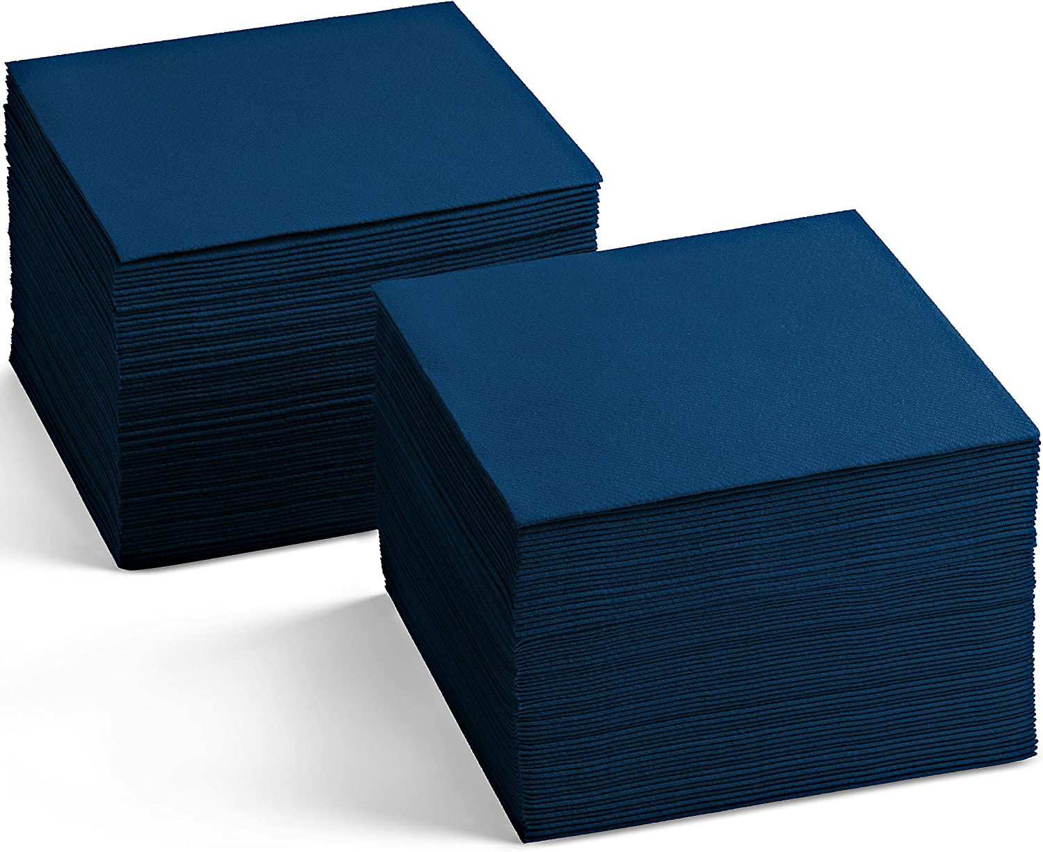 Linen-Feel Colored Cocktail Napkins - Decortive Cloth-Like DARK BLUE Dessert And Beverage Napkins - Soft And Absorbent. For Restaurant, Bar, Cafe, Or Event. (Pack of 200)