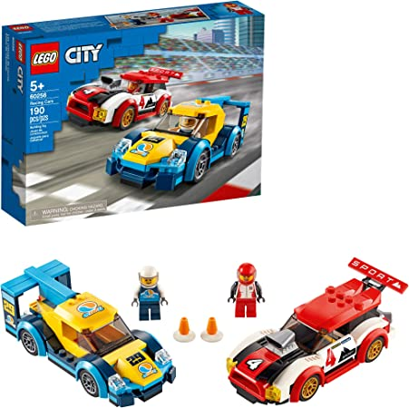 LEGO City Racing Cars 60256 Fun, Race Car Building Toy for Kids, New 2020 (190 Pieces)