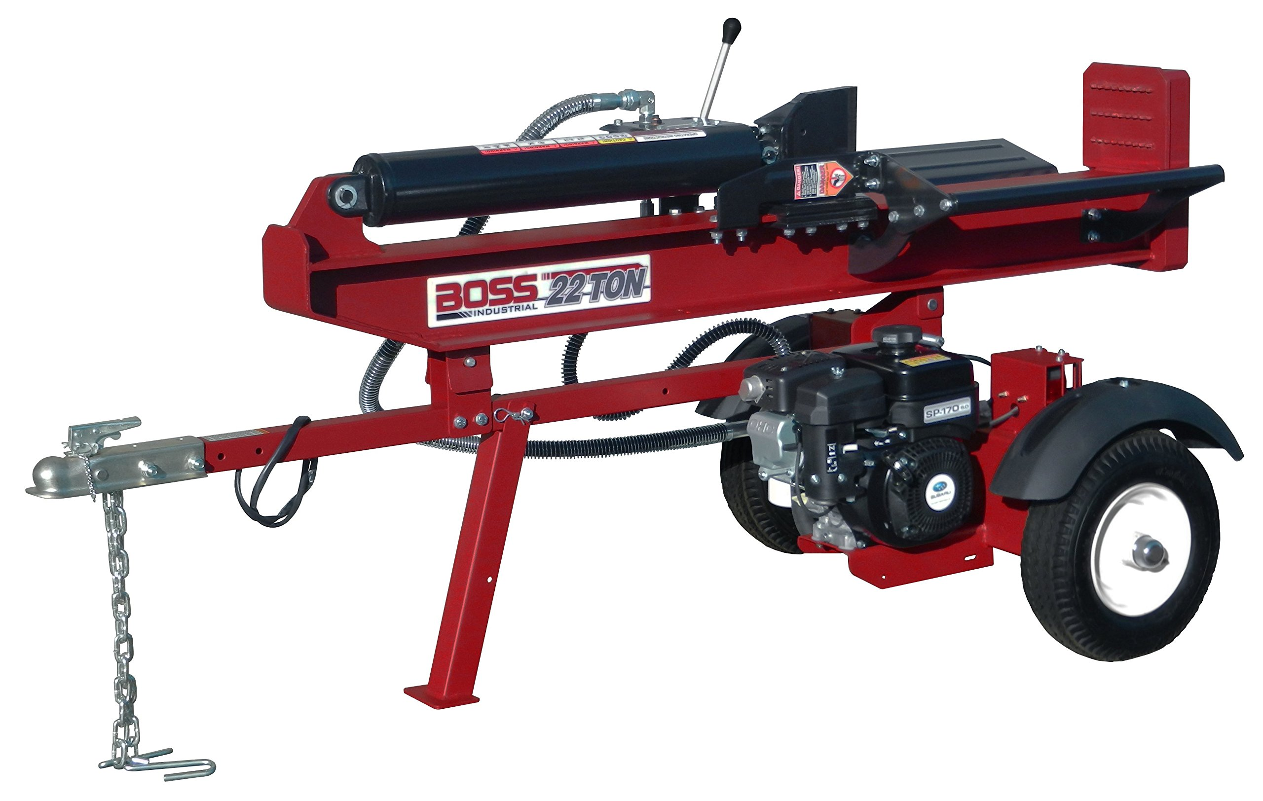 BOSS INDUSTRIAL GB22T25L Horizontal/Vertical Gas Log Splitter with Rear Lights, 22 Ton by Boss Industrial