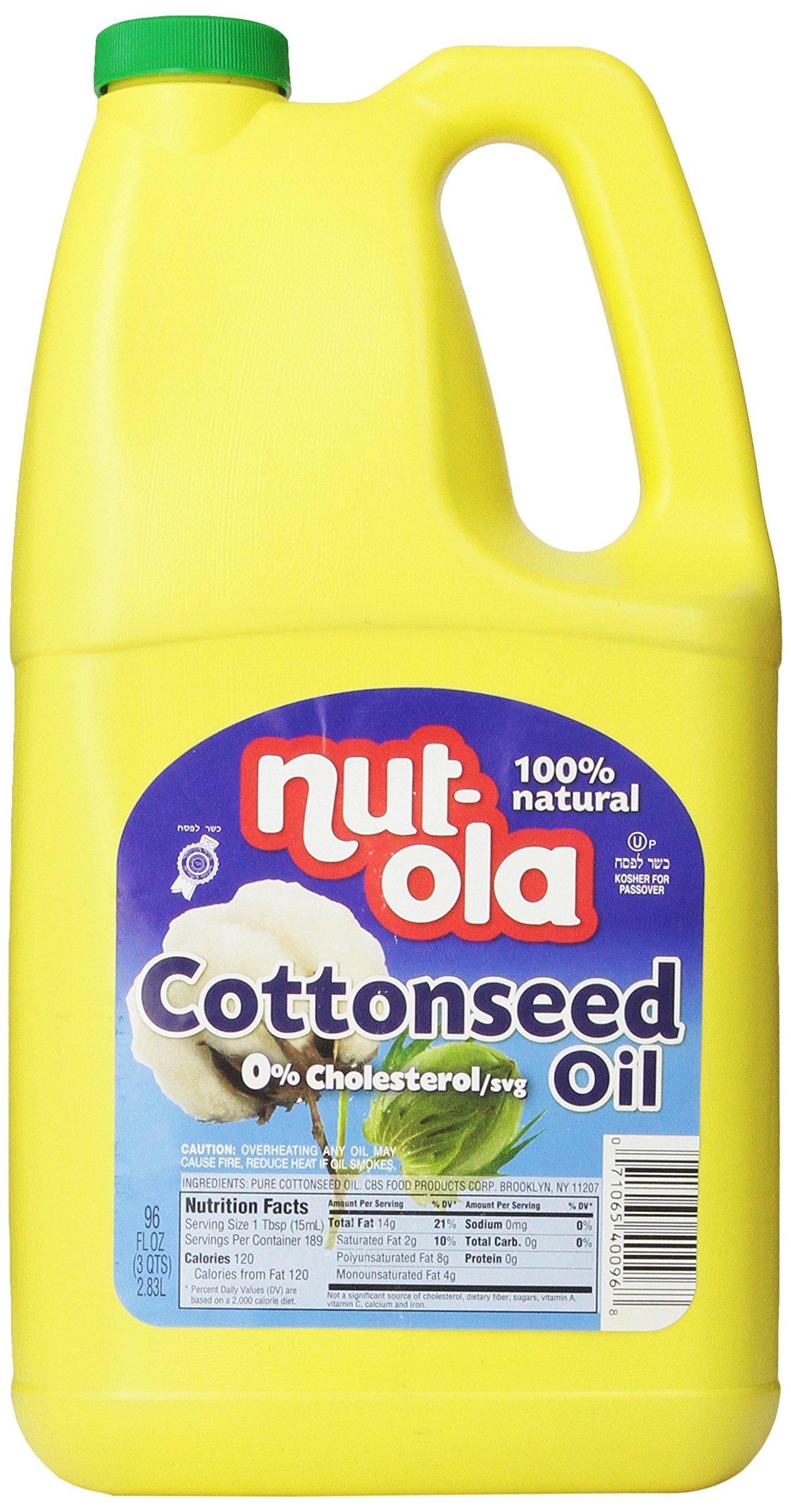 Nutola Cottonseed Oil, 96 Ounce by Nut-Ola