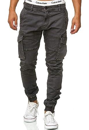 Indicode Homme Vintage Pantalon Cargo Chino Ranger Regular Fit Alex DK Grey  M cc8f30acd35
