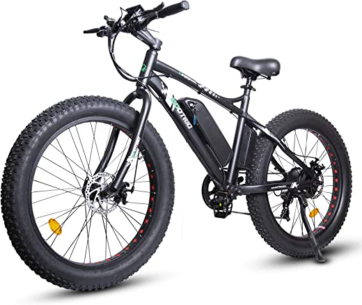 "ECOTRIC Electric Powerful Bicycle 26"" Fat Tire Bike 500W 36V/12AH Battery EBike Moped Snow Beach Mountain Ebike Throttle & Pedal Assist"