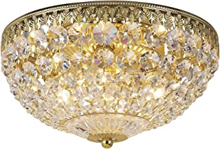 product image for Schonbek 1560-20A Swarovski Lighting Petit Crystal Flush Mount Lighting Fixture, Gold
