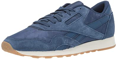 c33172fbb96 Reebok Men s CL Nylon SG Sneaker Washed Blue Chalk 9.5 ...