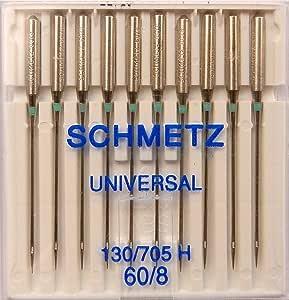 SCHMETZ - 10 agujas universales para máquinas de coser (pistón ...