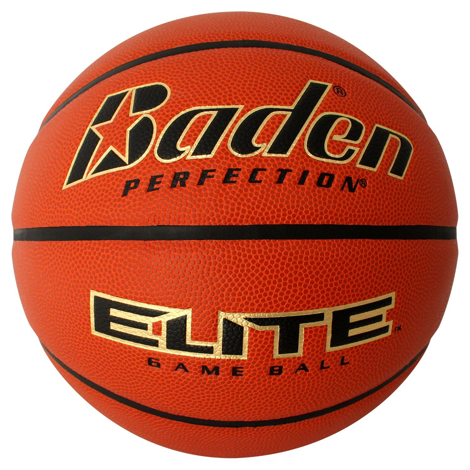 Baden Basketball Elite Indoor Game, NFHS zugelassen 1139594 Natural Orange Color 29.5-Inch BX7E-02E