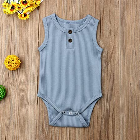 Amazon.com: Clearance! Newborn Baby Girl Summer Cotton Sleeveless ...