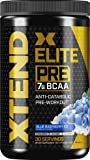 XTEND Elite Pre BCAA Powder Anti-Catabolic Pre Workout Drink with Branched Chain Amino Acids BCAAs, Blue Raspberry Ice…