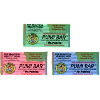Mr. Pumice Callus Remover Pumi Bar: Pedicure Stone & Foot Scrubber - Medium Grit (4 Pack, Assorted Colors)