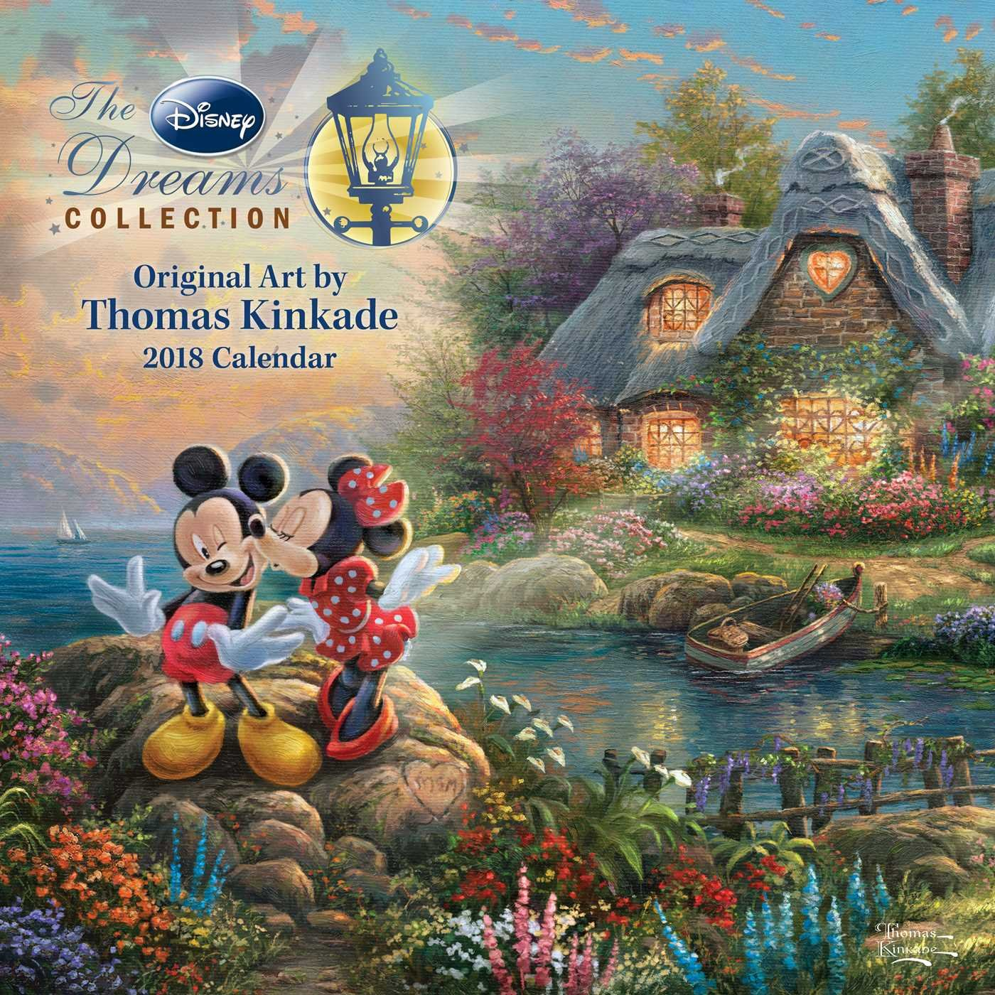 official thomas kinkade the disney dreams collection 2018 wall calendar amazoncouk thomas kinkade 0762042136917 books