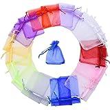 Multicolore Organza Sacchetti Regalo Buste di Nozze Favore per Gioielli 100 Pezzi, Piccole Dimensioni